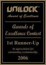 2006 Unilock award of excelelnce 1st runner up