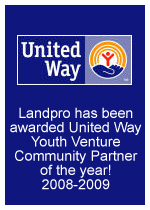 Landpro awarded United Way Youth Venture Community Partner of the year